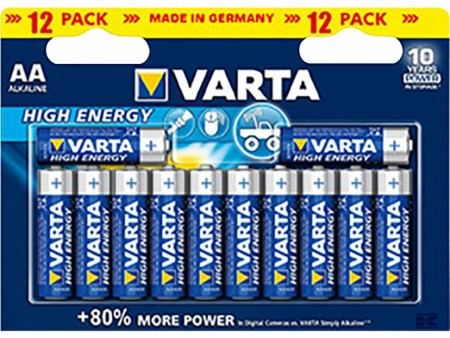 Varta high energy AA (LR06) 12stk.sb.
