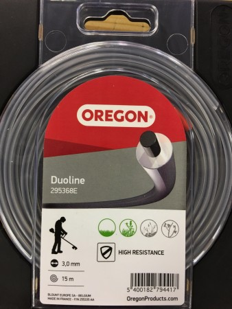 Oregon Duoline 3.0mm x15m trimmer tråd